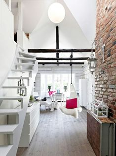 White Elegance & Brick Wall Exposed