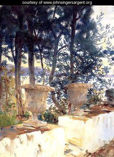 Corfu, The Terrace - John Singer Sargent - www.johnsingersargent.org