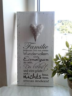 Deko-Objekte - Holzschild - Familie - ein Designerstück von pfeifers bei DaWanda