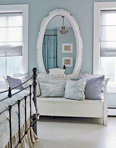 bedroom blue purple