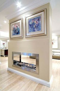 built-in, wall or floor mounted indoor gas or bio fireplace
