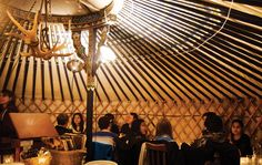 Ceili Cottage's giant plastic-wrapped yurt is low on curb appeal, but inside, the 35-seat rotunda is steamy and intimate.  1301 Queen St. E., 416-406-1301.