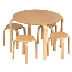 Found it at AllModern - Natural Nordic Kids 5 Piece Table and Stool Set