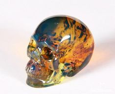 Dominican Blue Amber Gem Quality Crystal Skull Sculpture✖️More Pins Like This One At FOSTERGINGER @ Pinterest✖️