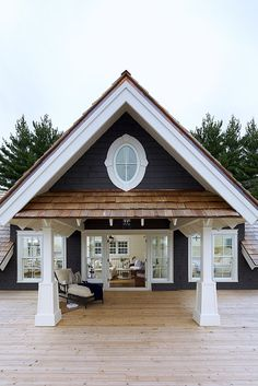 The perfect boathouse. Complete with a spot inside to park your boat!