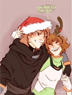 Pidge and her brother, Matt Holt's Christmas from Voltron Legendary Defender