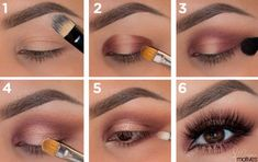 Líčenie hnedých očí: Tento rýchly návod musíš vyskúšať! • Akadémia krásy Eyeshadow Makeup, Hair Trends, Hair Beauty, Make Up, Lipstick, My Style, Hair Styles, Womens Fashion, Makeup Ideas