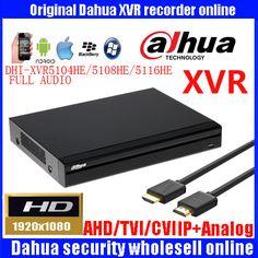 Dahua 4ch 8ch 16ch 1080P video recorder DHI-XVR5104HE/DHI-XVR5108HE/DHI-XVR5116HE Support HDCVI/AHD/TVI/CVBS/IPcamera Mini 1U