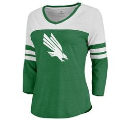 Women's Fanatics Branded Kelly Green North Texas Mean Green Primary Logo Color Block Sleeve Tri-Blend T-Shirt University Of North Texas, Kids Fans, Mean Green, Team Gear, Logo Color, Kelly Green, Tee Shirts, Sweatshirts, Texas Tees