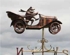 Copper Mr. Toad's Car Weathervane
