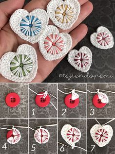 Rate it ( 1 to 10 ) 😍😍 Will you try it ? Crochet Flower Tutorial, Crochet Flower Patterns, Crochet Motif, Crochet Flowers, Crochet Stitches, Crochet Crafts, Crochet Projects, Crochet Video, Button Decorations