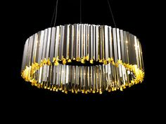 LED Facet Chandelier. Lighting We Love at Design Connection, Inc. | Kansas City Interior Design http://www.DesignConnectionInc.com
