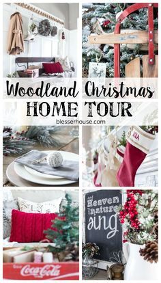 Woodland Christmas Home Tour 2015 Part 1 | http://blesserhouse.com - TONS of great ideas for decorating for the holidays on a budget!