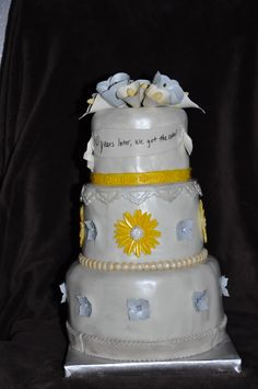 10-year Anniversary Cake by Adair Weddings