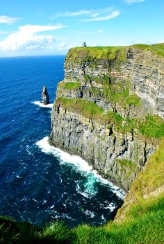 Cliffs of Moher, Ireland. Photographs cannot do this spot justice. I stared at photos for years, but when I arrived at the Cliffs of Moher, there was so much beauty my eyes filled with tears