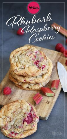 Rhubarb Raspberry Cookies - Raspberries - Ideas of Raspberries - Rh. Rhubarb Raspberry Cookies - Raspberries - Ideas of Raspberries - Rhubarb Raspberry Cookies Bake to the roots Rhubarb Cookies, Raspberry Cookies, Rhubarb Desserts, Easy Rhubarb Recipes, Doce Light, Delicious Desserts, Yummy Food, Healthy Food, Healthy Meals