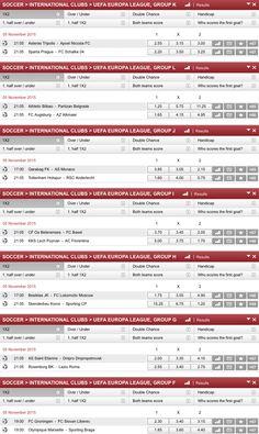 UEFA EUROPA LEAGUE - GROUPS  www.crowin24.com  #championsleague #bundesliga #soccer #betting #today #thursday #bet #casino #onlinebetting #online #sportwetten #wetten