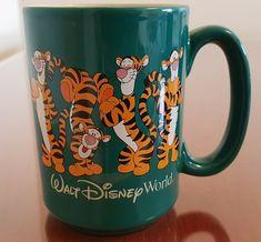 Walt Disney World Tigger Posing Green Coffee Mug Winnie the Pooh Beige Inside   eBay Disney Coffee Mugs, Disney Mugs, Disney Gift, Green Coffee Mugs, I Love Coffee, Mickey Mouse Kitchen, Forest Creatures, Photo Album Scrapbooking, Fun Cup