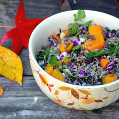 Wild Rice and Winter Squash Salad with Cranberries and Sherry Vinaigrette