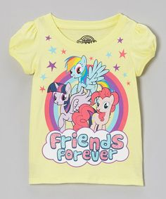 Take a look at this Yellow 'Friends Forever' Tee - Toddler by My Little Pony on #zulily today!9