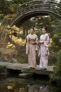 Ziyi Zhang as Chiyo/Sayuri and Michele Yeoh as Mameha in Memoirs of a Geisha (2005) with costume designed by Colleen Atwood