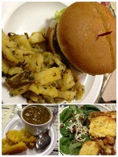 Lunch at Cottage Restaurant in Alexandria, La. Featured here is their stuff burger, chicken and sausage gumbo, and the tomato and basil pie. #latravel, #setravel