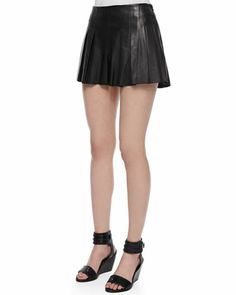 Thakoon Addition | Fan-Pleated Leather Short - CUSP
