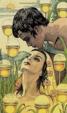 Nine of Cups - Cosmic Tarot - If you love Tarot, visit me at www.WhiteRabbitTarot.com