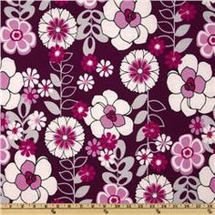 Stretch Jersey Knit Flower Purple/Lilac.     Thinking about this fabric for my shower curtain.