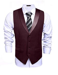 baa0a0bb928 Mens Business Suit Vest Casual Lapel Plaid Skinny Waistcoat Sleeveless  Jacket >>> You can get more details by clicking on the image.