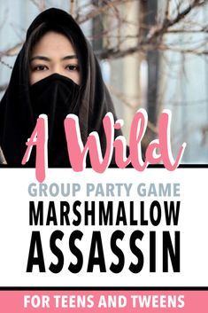 Marshmallow Assassin: A Wild Group Party Game that Teenagers & Tweens Will Love - Game Night Maven Teenage Party Games, Group Games For Teenagers, Fun Group Games, Teenage Parties, Youth Group Activities, Youth Games, Fun Party Games, Love Games, Adult Party Games For Large Groups