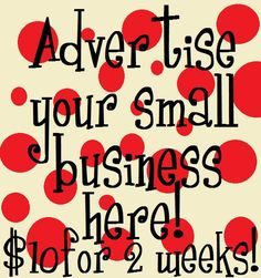 Small Business Advertising Space Available At LivAndCo.com on the right column of my popular blog page!  Click Here For Instructions. - Liv & Co.