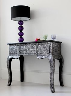 Metal embossed dressing table from Out There Interiors
