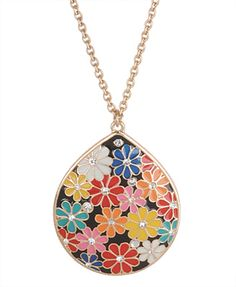 Floral Pendant necklace from Forever 21