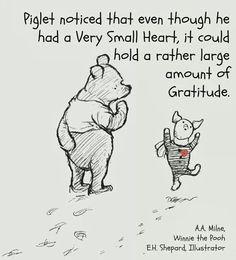 Pooh and Piglet ... Gratitude