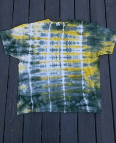 Tie Dye Shirt Green and Yellow Tie Dye Shirt by MessyMommasTieDyes