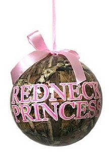 Pink Camo Christmas Tree Ornaments, Redneck Princess, perfect for the country girl, or Duck Dynasty Fan