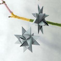 origami noël idée facile à fabriquer suspension