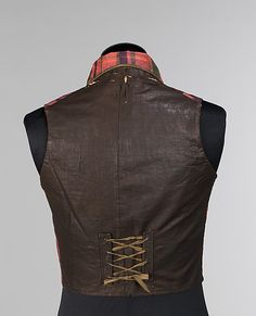 Vest, Morning  Date: 1850–59 Culture: American Medium: silk, cotton, linen, wool