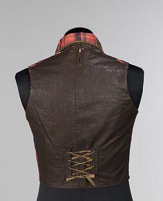 Vest, Morning  Date: 1850–59 Culture: American Medium: silk, cotton, linen, wool civil war era fashion