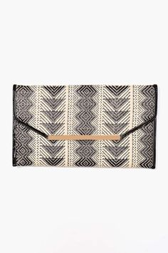 Woven Envelope Clutch; this is a gorgeous clutch, for casual or formal