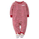 Super cute with Santa footies, this velvety-soft sleep