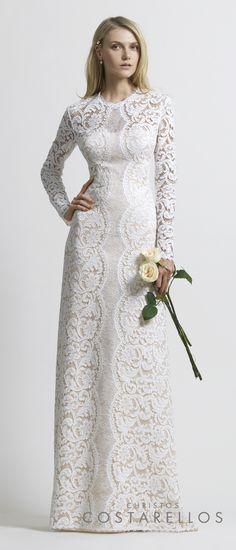Christos Costarellos Bridal Collection 2014. Total lace