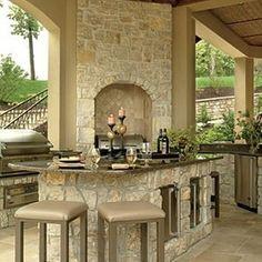 limestone outdoor kitchen - Google Search