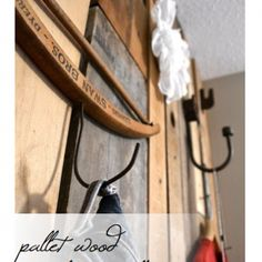Pallet wood closet (external, great for entry or something in rustic home)