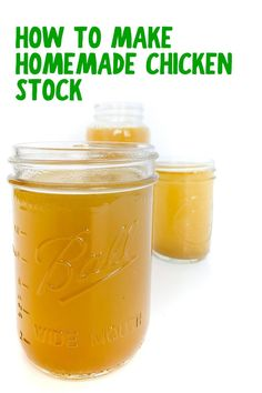 Make your own homemade chicken stock at home with this easy, step-by-step recipe tutorial! Great for soups, stews, braises and more.