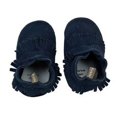 Baby Boy Tommy Tickle Suede Moccasin Crib Shoes, Size: 18-24MONTH, Blue (Navy)