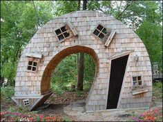 Weird house in the woods.