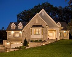 First thought... it's beautiful.  Second thought... they must spend a FORTUNE on exterior lighting.