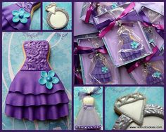 Red Bud Cookies' bridesmaids dresses. Too fancy to eat! #wedding